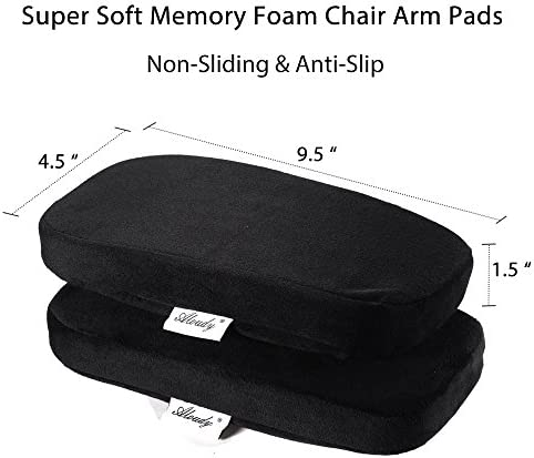 Aloudy Ergonomic Memory Foam Office Chair Armrest Pads, Comfy Gaming Chair Arm Rest Covers for Elbows and Forearms Pressure Relief(Set of 2) 51ix8jaO8GL