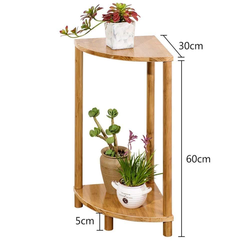 WI Flower Stand-Flower Rack Combination Fan-Shaped Solid Wood Multilayer Indoor Flower Shelf Simple Bamboo Succulents Bonsai Frame,C by WI