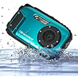 KINGEAR PDK0025 2.7 Inch LCD Cameras 16MP Digital Camera Underwater 10m Waterproof Camera+ 8x Zoom--Blue