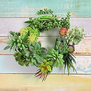 SOONHUA Artificial Succulent Plants, Fake Succulent Plants,Assorted Faux Plant for Home Office Decoration Floral Arrangement,Unpotted for Christmas Decorations (15 Different PCS) 4
