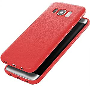 Samsung Galaxy S8 Plus - Luxury Ultra Thin Leather Soft Phone Case Back Cover - RED