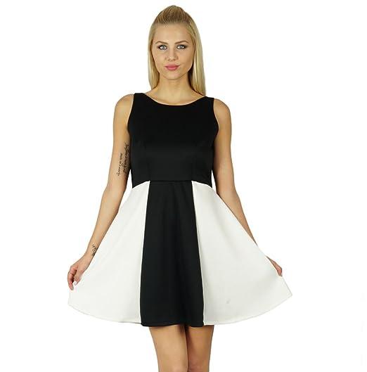 Amazon Bimba Black White Shift Dress Sleeveless Stretchable