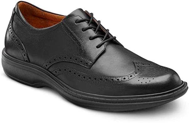 Amazon.com | Dr. Comfort Wing Men's Therapeutic Diabetic Extra Depth Dress  Shoe Leather Lace | Oxfords