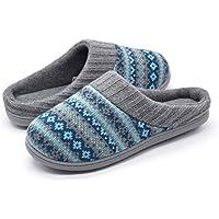 RockDove Women's Sweater Knit Memory Foam Slipper