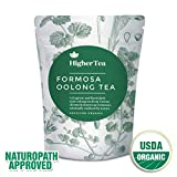 Oolong Tea 3 Oz, By Higher Tea (40 Cups). Formosa Organic Oolong - the best quality in the world. Premium Loose Leaf Tea, Resealable Bag, Perfect for Tea connoisseurs looking for the finest green tea