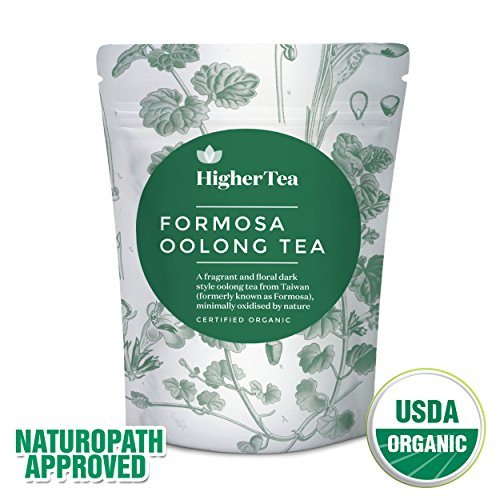 Oolong Tea 3 Oz, By Higher Tea (40 Cups). Formosa Organic Oolong - the best quality in the world. Premium Loose Leaf Tea, Resealable Bag, Perfect for Tea connoisseurs looking ()