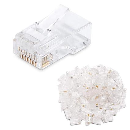 Wondrous Amazon Com Cable Matters 100 Pack Cat 6 Cat6 Rj45 Modular Plugs Wiring Digital Resources Hutpapmognl