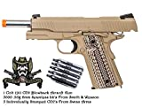 Cheap Colt 1911 CO2 Blowback Airsoft Gun Pistol with 5000 S&W .20g 6mm bb's and 5 CO2's