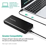 Portable Charger RAVPower 26800mAh 30W PD USB C Power Bank High-Capacity Power Delivery External Battery Pack with Fast… 11 【Large Capacity】:The massive 26800mAh battery capacity provides more than 4 charges for iPhone 11 Pro Max, 6 full chargers for Samsung S20, 7 full charges for Huawei P40, one and a half charges for iPad Pro; fully compatible with iPhone 11/12/12Mini/12 Pro/12Max Pro/XS / XS Max / XR, Samsung Galaxy S20/S10/S9/S8/S7 and other USB devices. 【Massive 30W Type-C Output】: Deliver a 30W high-speed charge to phones, tablets, laptops, and more via the two iSmart ports; recharge the 26800mAh battery through the Type-C port in just 4-5 hours (compared to the standard 14 hours). 【Multiple Outputs】:The Type-C output reaches up to 30W that matches the original AC MacBook charger, so you can charge all devices including a MacBook in no time; additional two 2.4A iSmart ports support more devices charging at the same time.