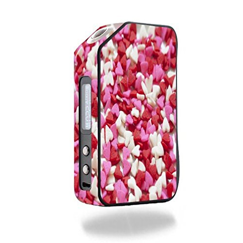 Decal Sticker Skin WRAP - Wotofo Stentorian Chieftain 220W - Pastel Pink Girlfriend Valentine Heart Collection Printed Design