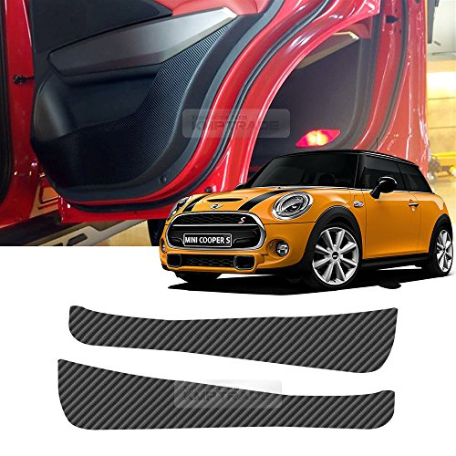 Carbon Door Protect Anti Scratch Cover Kick Fabric Decal Sticker Carbon Black For BMW Mini Cooper S F56 2015 - Out Of Way Get Easy To Scratches Car