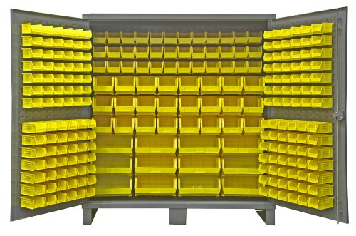 Durham Extra Heavy Duty Welded 12 Gauge Steel Cabinet With 240 Bins, HDC72-240-95,  24