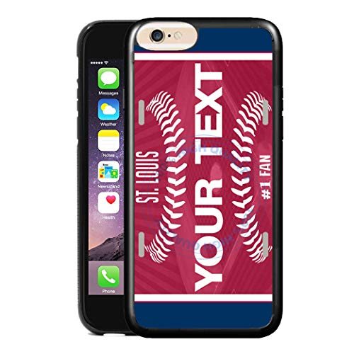 BRGiftShop Customize Your Own Baseball Team St. Louis Rubber Phone Case for Apple iPhone 8 Plus & 7 Plus (Iphone 7 Plus St Louis Cardinals Case)