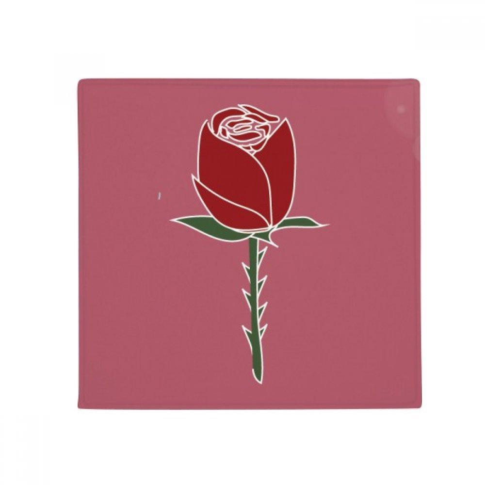 DIYthinker Red Carnation Flower Plant Pattern Anti-Slip Floor Pet Mat Square Home Kitchen Door 80Cm Gift