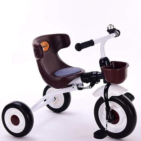 Triciclo de los niños cochecito de bebé coche de juguete luz plegable hombres y mujeres niños