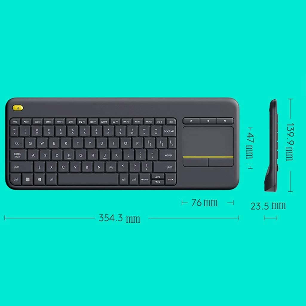 Xuejuanshop Multi-Function Touch Mute Wireless Touchpad Keyboard Combination Office Business Home Portable Keyboard and Mouse Kit Black