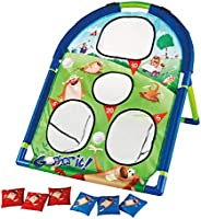 Kidoozie Gopher It! Bag Toss, 2 Player, Gameboard Bag Toss, for Children 3 Years and Up, Multicolor