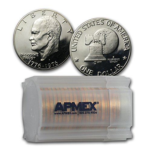 1976 S Clad Eisenhower Dollars 20-Coin Roll Proof (Type-2) Dollar About Uncirculated