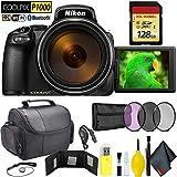 Nikon COOLPIX P1000 Digital Camera + 128GB Memory Card Travel Kit International Model