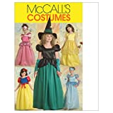 McCall's M5494 Girl's Witch and Princess Halloween Costume Sewing Patterns, Sizes 3-6