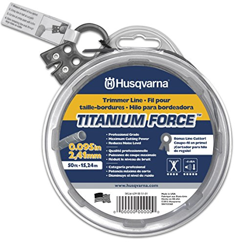 Husqvarna 639005101 Titanium Force String Trimmer Line .095-Inch by 50-Foot Donut
