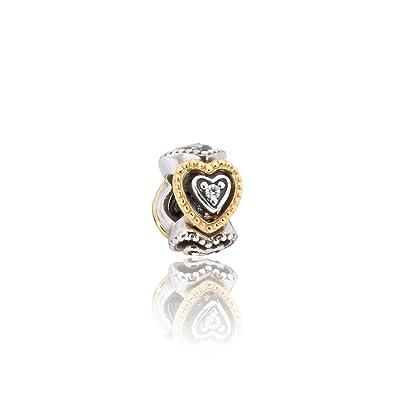 d9159dd0c Amazon.com: Pandora Celebration of Love Spacer Silver & Gold Charm ...