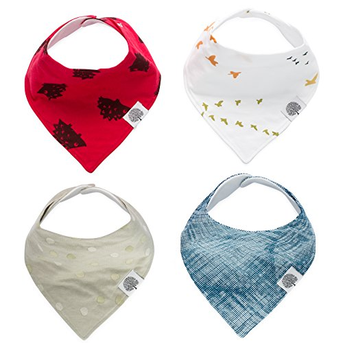 Gray Terry Cloth Covers (The Good Baby Bandana Drool Bibs – 4 Pack Baby Bibs for Boys, Girls, Unisex -