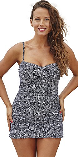 Shore Club Women's Plus Size Ruffle Swimdress 20 Multi