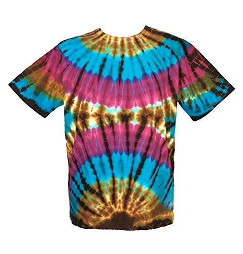 CJ Intertrade Tie Dye Shirt for Men and Women Size S,M,L,XL,2XL,3XL,4XL,5XL Tie Die Shirts Tie Dye T Shirts Tie Die Tee Shirts Hippie Shirt … (2XL, Cemicercle) (Dye S/s Tie Tee)