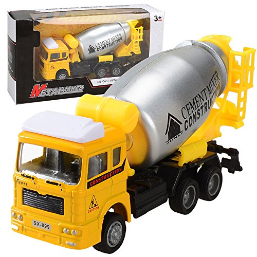 Gbell Engineering Pull Back Cars for Boys, Collectible Model Vehicles Mini Car Truck Construction Vehicle Gift Toy for 2, 3, 4 Year Olds, Toddlers, Boys, Kids