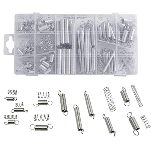 Jashem Tools Spring Assortment Set 200pcs Steel Zinc Plated Compression and Extension Spring Kit for Small Projects, Automotive Equipment Repairs, Replacement Parts and Home Repairs]()
