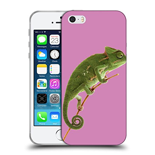 GoGoMobile Coque de Protection TPU Silicone Case pour // Q05680618 caméléon Bronzo // Apple iPhone 5 5S 5G SE