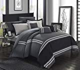 King Size Sheets and Comforters Chic Home Zarah 10 Piece Bedding with Sheet Set and Decorative Pillows Shams, King, Grey