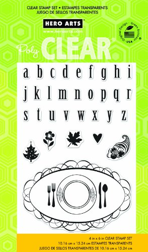 Hero Arts Placecard and Alphabet Clear Stamp Set ()