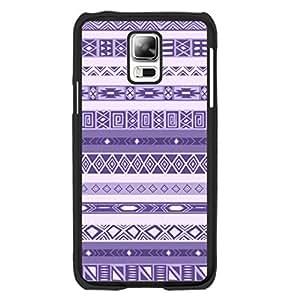 Light Purple Stripes Personalized Aztec Design Samsung Galaxy S5 Case Skin Geometric Triangle Diamond Print Hard Plastic Cell Phone Skin