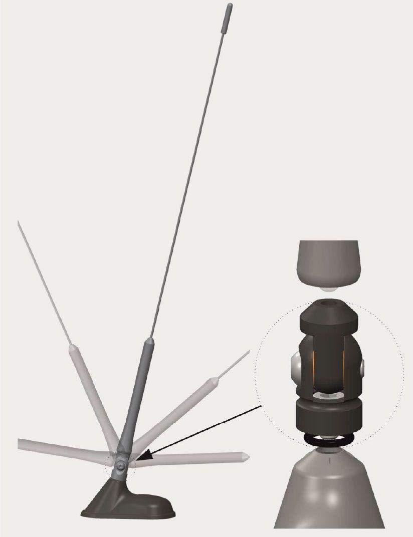 Gelenk zur Nachr/üstung von 16V Dachantennen M5-4615.01 Antenne Bad Blankenburg