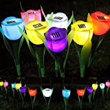Decorative Lights - Outdoor Yard Garden Lawn Solar Power Led Night Lights Tulip Flower Lamp - Solar Powered Christmas Lights Power Bank Charger String System Home Powerbank Tulip - 1PCs