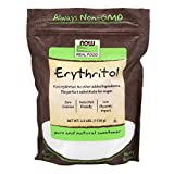 Health & Personal Care : NOW Foods, Erythritol, Great-Tasting Substitute for Sugar, Zero Calories, Low Glycemic Impact, 2.5-Pound