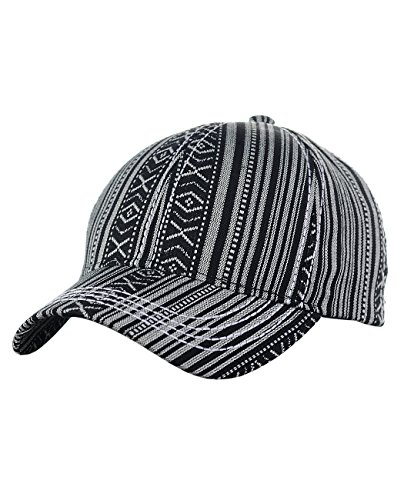 Baseball Tribal Hat (C.C Unisex Abstract Navajo Print Allover Adjustable Precurved Baseball Cap Hat, Black)
