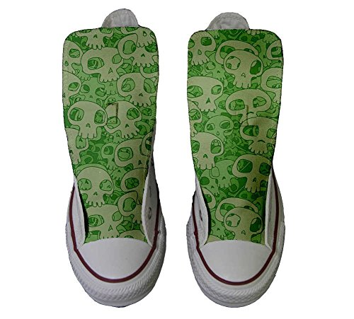 Converse Schuhe Star Hi Schuhe Skull personalisierte Handwerk Green Customized All rBW6Ka7yqr