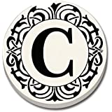 "Monogram ""C"" Car Coaster - Single Auto Coaster By CounterArt"
