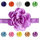 Clipeez Mix N' Match Grosgrain Flower Adjustable Headband, for Newborn, Baby, and Girls. (Color Pack 1)
