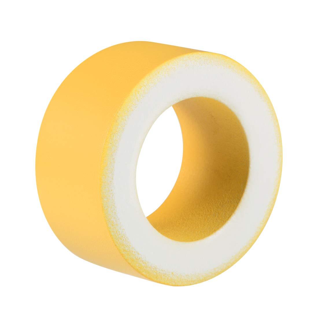 uxcell 31.3 x 51.3 x 25.5mm Ferrite Ring Iron Powder Toroid Cores Yellow White