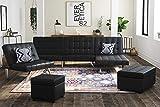 DHP Emily Futon Sofa Bed, Modern Convertible