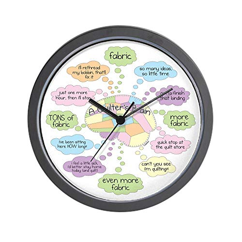 CafePress-Quilters Brain-Wall Clock (Quilters Wall For Design)