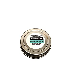 Pilots HQ Dow Corning Molykote 111 Oring/Valve Lubricant/Sealant, 1/2oz (Repackaged for Smaller Applications), Water Resistant Lubricant, Food Grade Lubricant, Dow 111