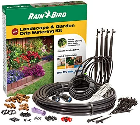 Rain Bird LNDDRIPKIT Drip Irrigation Landscape Garden Watering Kit with Drippers, Micro-Bubblers and Micro-Sprays
