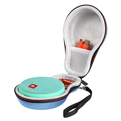 Poschell Case for JBL Clip 2 Waterproof Portable Bluetooth Speaker EVA Hard Travel Carrying Case Bag Fits USB Cable and Charger Light Blue