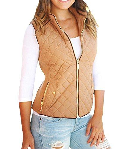 Womens Clothing : Vests Khaki - 9