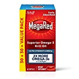 1000mg Omega-3 Krill Oil Supplement, MegaRed